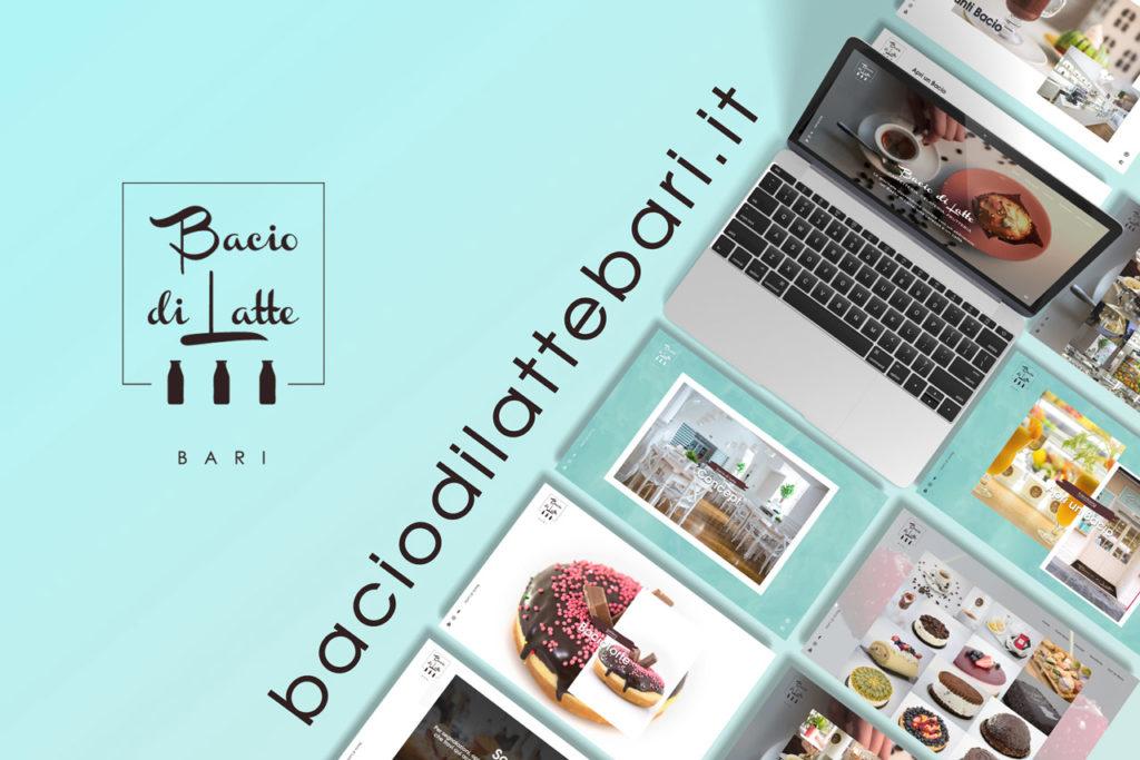 sviluppo sito web bacio di latte - bar pasticceria caffetteria